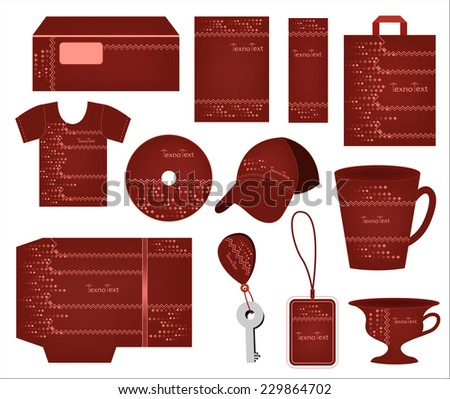 dark burgundy corporate style decorated rhombuses, zigzag lines for techno companies