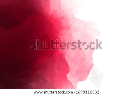 Dark burgundy, wine color watercolor background. Dark red luxury background. Foto stock ©