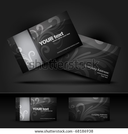dark business card design illustration