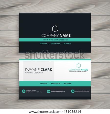 dark business card modern design