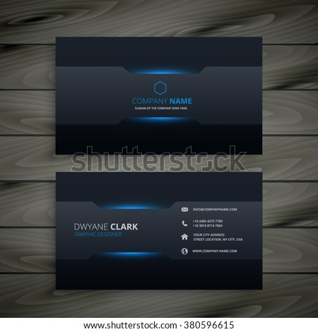 dark business card template