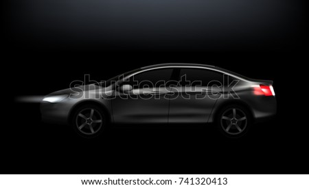 dark car clear business sedan