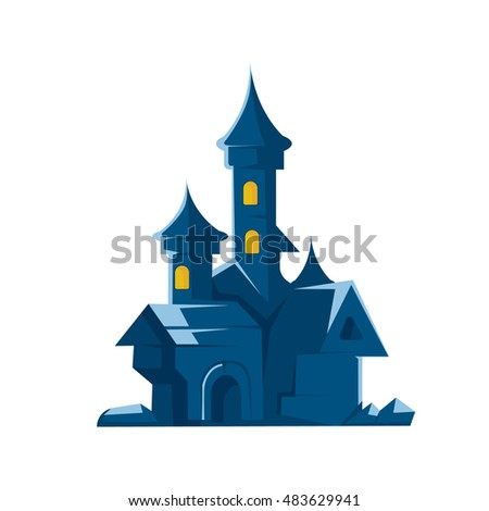 dark castle of vampires vector