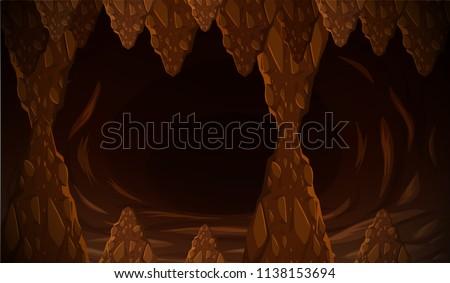 dark cave formation scene
