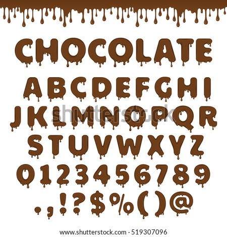 dark chocolate latin alphabet