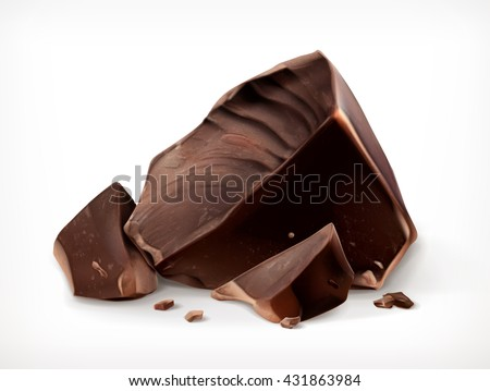 dark chocolate pieces vector