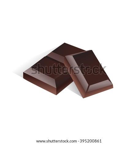 dark chocolate vector icon