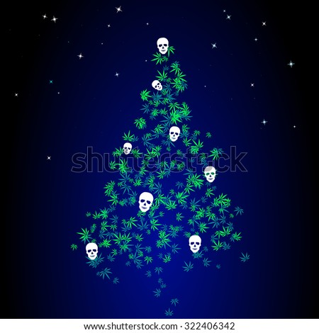 dark christmas tree with