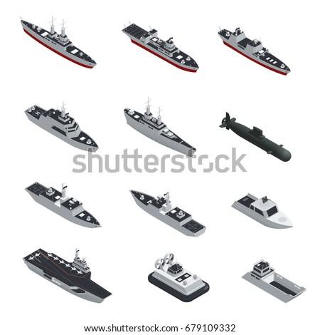 dark color military boats