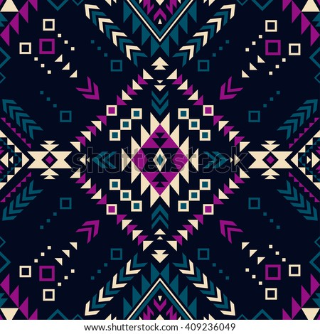 dark color tribal navajo vector
