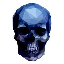 dark crystal skull on white background