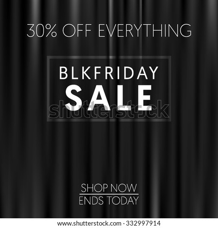 Curtains Ideas black friday curtains : Dark Curtains Background. Black Friday Banner. Vector Illustration ...