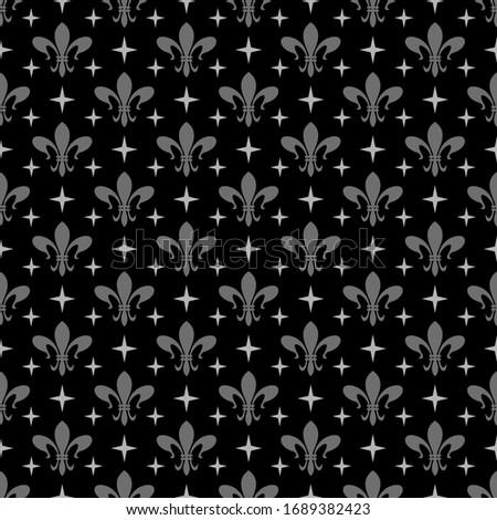Dark decorative pattern. Seamless Wallpaper, textile design texture. Vector art.