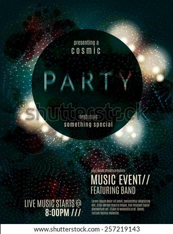 dark eclipse party invitation