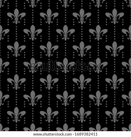 Dark floral pattern. Seamless Wallpaper, textile design texture. Vector art.