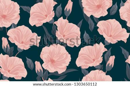 dark floral seamless pattern