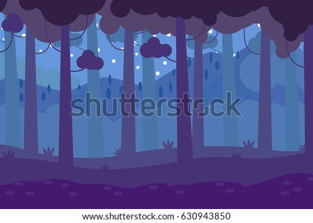 dark forest background vector illustration
