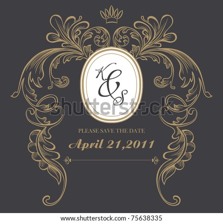 dark formal card design best for wedding, events, christmas