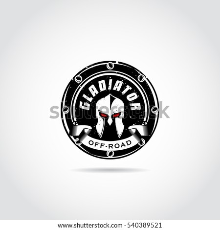 dark gladiator logo template
