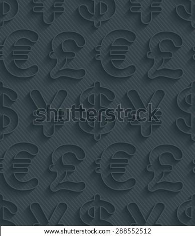 dark gray currency symbols