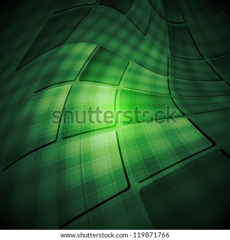 Dark green abstract background. Vector tech design eps 10