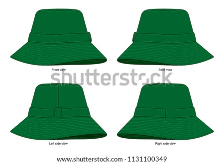 803681238e0c6 Dark Green Blank Bucket Hat Vedtor