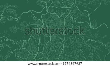dark green jerusalem city area