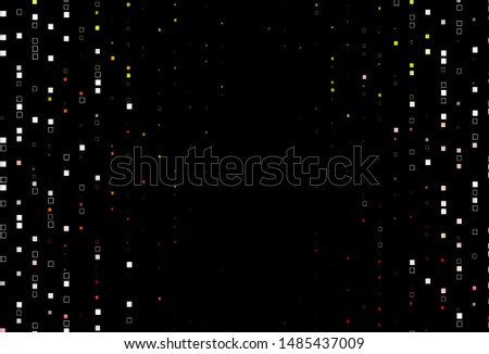 Dark Green, Red vector backdrop with lines, rectangles. Rectangles on abstract background with colorful gradient. Best design for your ad, poster, banner.