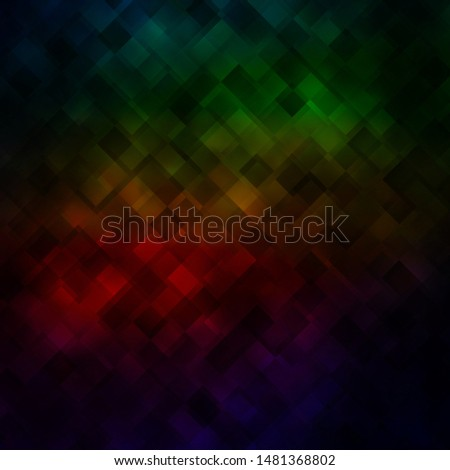 Dark Green, Red vector background in polygonal style. Abstract gradient illustration with colorful rectangles. Pattern for commercials, ads.