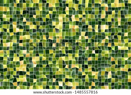 Dark Green, Red vector background with rectangles. Rectangles on abstract background with colorful gradient. The template can be used as a background.