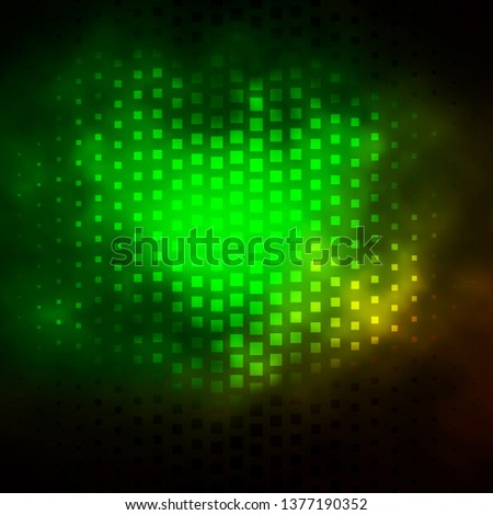 Dark Green vector backdrop with rectangles. Rectangles with colorful gradient on abstract background. Design for your business promotion.