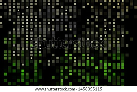 Dark Green vector backdrop with rectangles, squares. Rectangles on abstract background with colorful gradient. Best design for your ad, poster, banner.