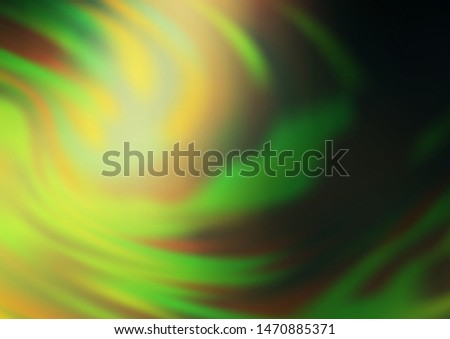 Dark Green vector blurred and colored background. Glitter abstract illustration with an elegant design. The elegant pattern for brand book.