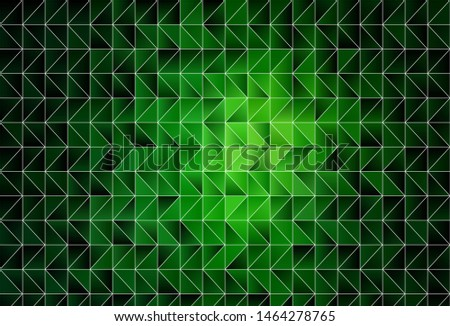 Dark Green vector shining triangular background. Shining colorful illustration with triangles. Brand new design for your business.