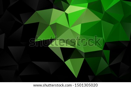 Dark Green vector shining triangular background. Shining illustration, which consist of triangles. Elegant pattern for a brand book.