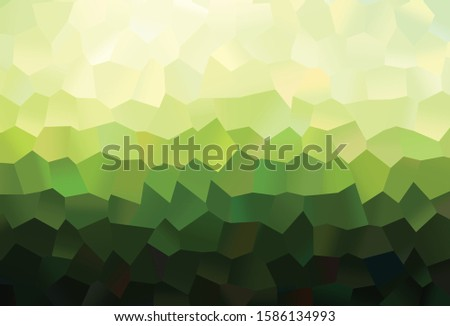 Dark Green vector texture with colorful hexagons. Colorful hexagons on abstract backdrop. New design for website's poster, banner.
