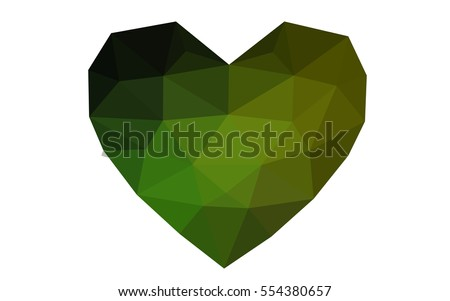 dark green  yellow heart