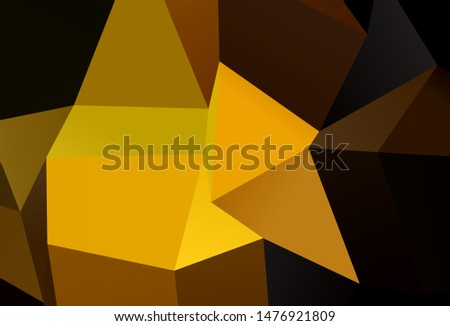 Dark Green, Yellow vector layout with lines, rectangles. Rectangles on abstract background with colorful gradient. Smart design for your business advert.