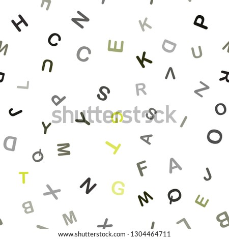 stock-vector-dark-green-yellow-vector-seamless-pattern-with-abc-symbols-blurred-design-in-simple-style-with