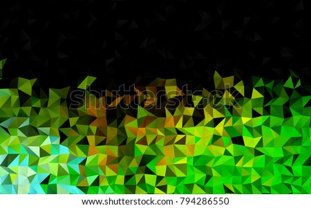 stock-vector-dark-green-yellow-vector-shining-triangular-template-modern-geometrical-abstract-illustration