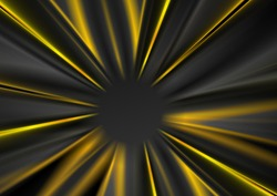 Dark grey and yellow glowing beams abstract background. Vector design