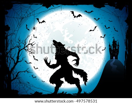 dark halloween background with