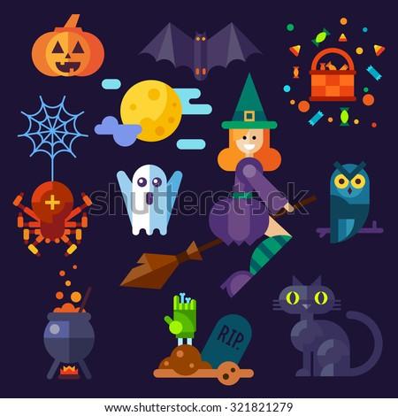 dark halloween set halloween