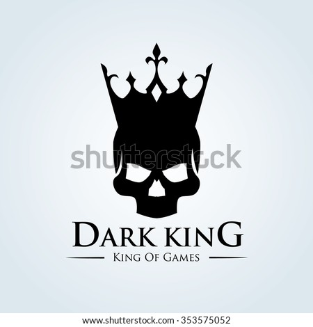dark king logo skull logo
