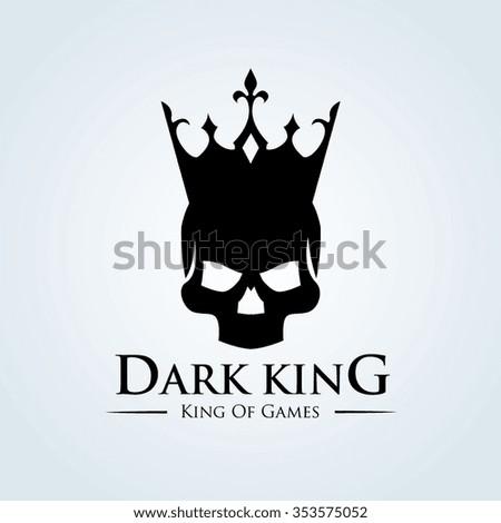 dark king  skull and crown logo