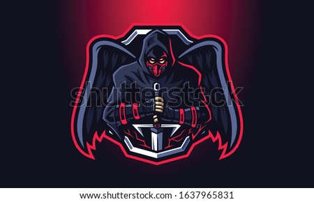 Dark knight mascot logo vector