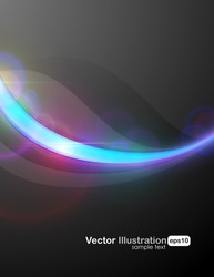 Dark luxury background with bright element to attract attention to your message. EPS10, RGB gammut, fully editable vector illustration.