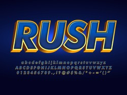 dark metallic blue and gold outline text effect, super stars futuristic and elegant font, luxury blue alphabet with gold extrude outline
