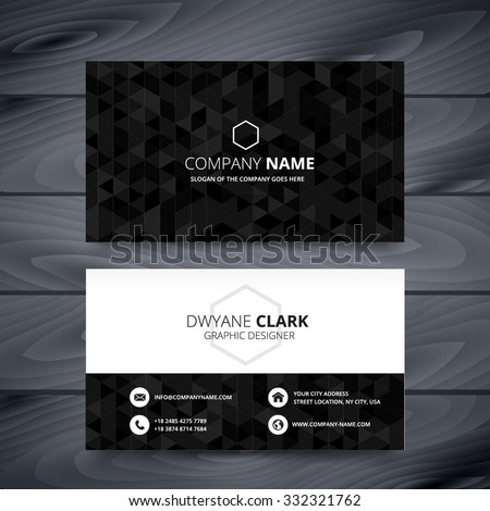 dark modern business card