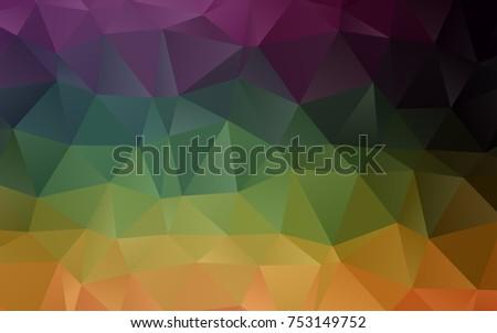 dark multicolor  rainbow vector